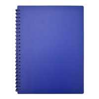 Beautone Refillable Display Book - A4 20 Page Matte Mid Blue