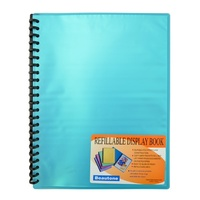 Beautone Refillable Display Book A4 20 Page Cool Frost Blue