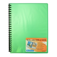 Beautone Refillable Display Book A4 20 Page Cool Frost Green
