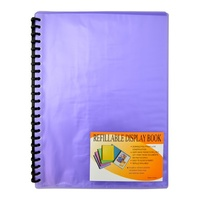 Beautone Refillable Display Book A4 20 Page Cool Frost Purple