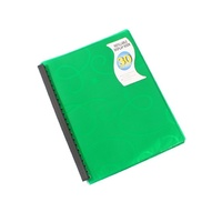 Beautone Refillable Display Book - A4 30 Page Jewel Green