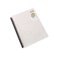 Beautone Refillable Display Book - A4 30 Page Jewel Clear Frost