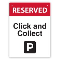 Durus Click and Collect Sign Black and Red 225x300mm