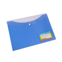 Beautone Document Folder - A4 Button Closure Blueberry