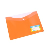 Beautone Document Folder A4 Button Closure Mango