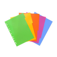 Bantex Lollyshop Dividers A4 5 Tabbed Assorted