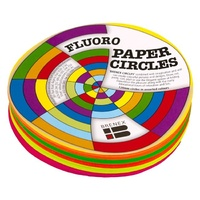 Brenex Fluoro Circles 120mm Diameter Single Sided Assorted 120 Sheets
