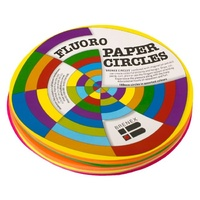 Brenex Fluoro Circles 180mm Diameter Single Sided Assorted 120 Sheets