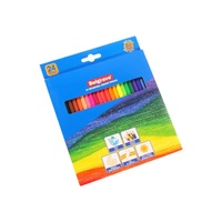 Belgrave Coloured Pencils 83012 Hexagonal Wood Free Assorted Pk24