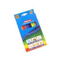 Belgrave Coloured Pencils 83052 Triangular Jumbo Wood Free Assorted Pk12