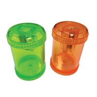 Bantex Canister Sharpener Single Hole (Orange/Green)