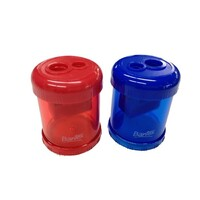 Bantex Canister Sharpener Double Hole(Blue/Red)