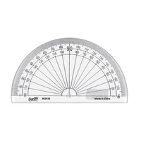 Bantex Protractor 852516 10cm 180 Degree Clear