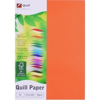 Quill XL Multioffice Paper A4 80gsm Orange