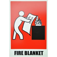 Fire Blanket Location Sign - Angled Size: 160X235mm