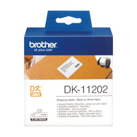Brother DK-11202 Label Printer Labels Shipping Name Badge 62X100mm