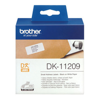 Brother DK-11209 Label Printer Labels Small Address 29x62mm