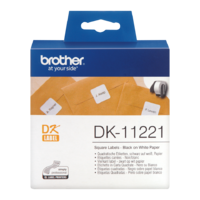 Brother DK-11221 Label Roll 23mm x 23mm Square Permanent White 23x23mm