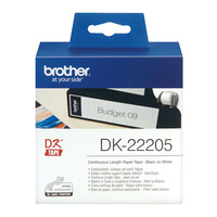 Brother DK-22205 Continuous Label Roll White Paper 62mmx30.48M