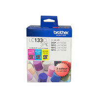 Brother LC133 Colour Value Pack (C/M/Y) Cartridge