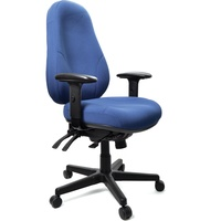 Persona Chair With Arms Blue Pyramid Fabric