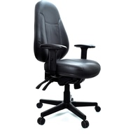 Persona Chair With Arms Black Leather