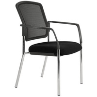 Lindis Mesh Back Chair 4 Leg Black