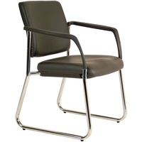 Lindis Chair Sled Chair With Arms Black