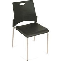 Pronto Visitors Chair 4 Leg Black Plastic