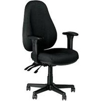 Buro Persona Chair - With Arms - Black Fabric