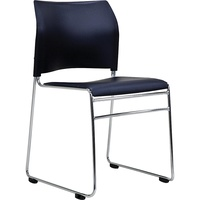 Buro Maxim Visitors Chair - Black Pvc Back With Black Vinyl Upholstered Base