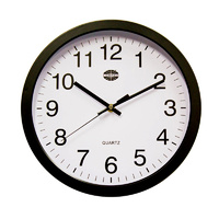 Compass 30cm Black Wall Clock