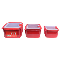 Connoisseur Set Of 3 Microwave Containers Red (1.7 Litre, 1.1 Litre & 600ml)