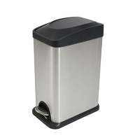 Compass 15L Stainless Steel Rectangular Pedal Bin