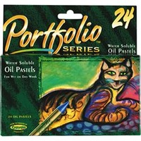 Crayola Portfolio Oil Pastels Pk24 Assorted Water Soluble