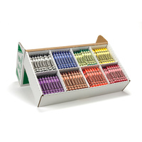 Crayola Crayons Large 400 Assorted Class Pack 8 Colours