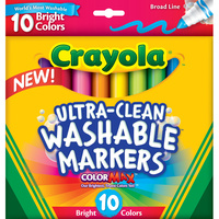 Crayola Washable Broad Marker10 Assorted Bright Colours