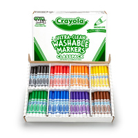 Crayola Washable Broad Marker 200 Assorted Classic Class Pack