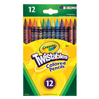 Crayola Pencils Twistables 12 Assorted Colours