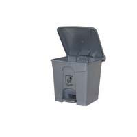 Durable Rubbish Bin With Pedal Lid 45 Litre Grey
