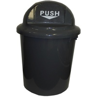 Cleanlink Bin With Bullet Lid Circular 60Ltr Grey