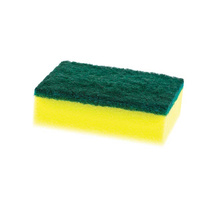 Cleanlink Sponge With Scourer 10 x 7cm Yellow/Green Pack 6