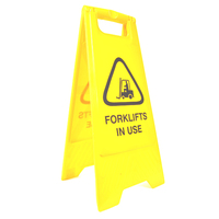 Cleanlink Safety Sign - 32X31X65cm Yellow - Forklifts In Use