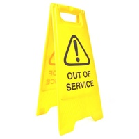 Cleanlink Safety Sign Out Of Service 32X31X65cm Yellow-