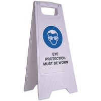 Cleanlink Safety Sign - 32X31X65cm Yellow - Eye Protection Must Be Worn