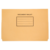Cumberland Document Wallets Manilla Foolscap Buff Bx50