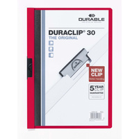 Durable Duraclip #30 Document File Red