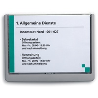 Durable Click Sign 210 X 149mm A5 Grey