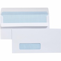 Cumberland Window Face Envelopes 90X165mm Self Seal Secretive 80gsm Bx500