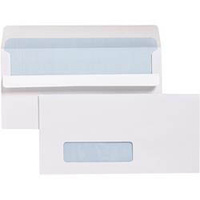 Cumberland Window Face Envelopes DLX 120X235mm Self Seal Secretive 80gsm Bx500